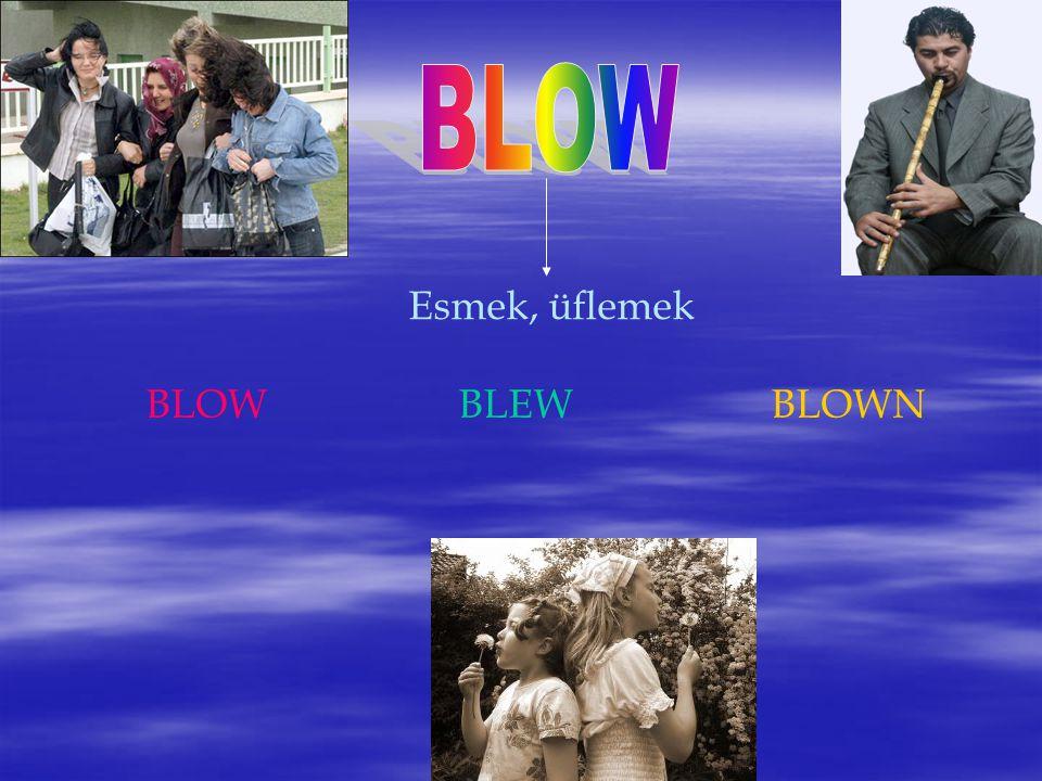 Esmek, üflemek BLOWBLEWBLOWN