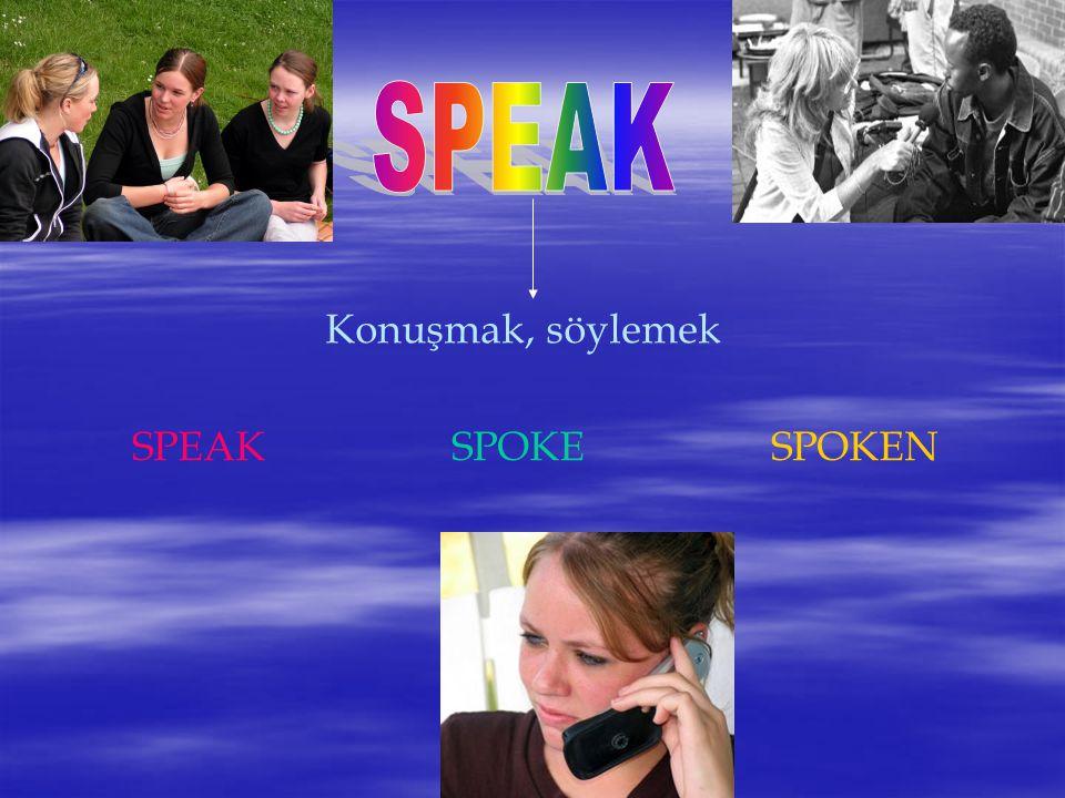 Konuşmak, söylemek SPEAKSPOKESPOKEN