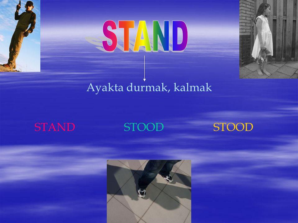 Ayakta durmak, kalmak STANDSTOODSTOOD
