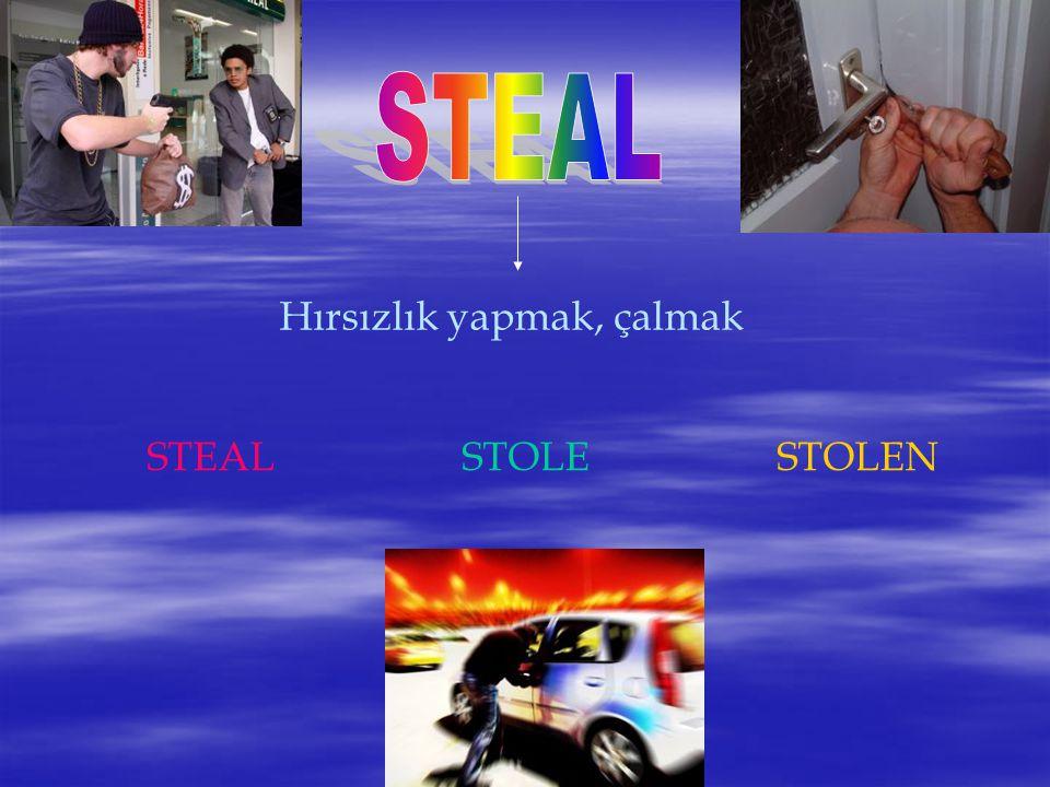 Hırsızlık yapmak, çalmak STEALSTOLESTOLEN