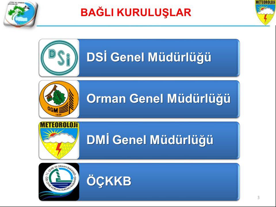 DSİ Genel Müdürlüğü Orman Genel Müdürlüğü DMİ Genel Müdürlüğü ÖÇKKB BAĞLI KURULUŞLAR 3