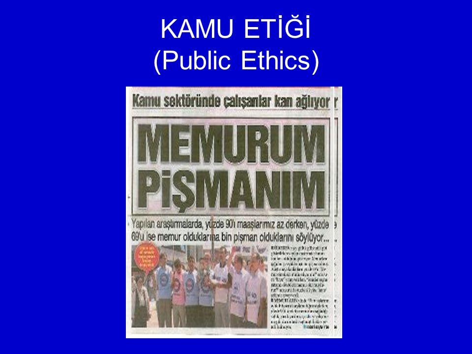 KAMU ETİĞİ (Public Ethics)