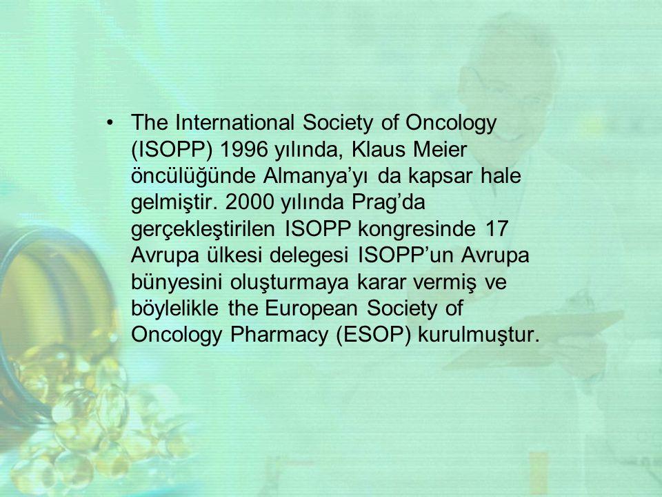 The International Society of Oncology (ISOPP) 1996 yılında, Klaus Meier öncülüğünde Almanya'yı da kapsar hale gelmiştir. 2000 yılında Prag'da gerçekle