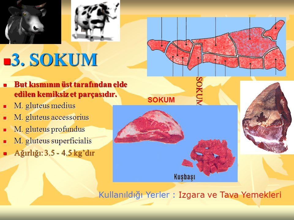 But kısmının üst tarafından elde edilen kemiksiz et parçasıdır. But kısmının üst tarafından elde edilen kemiksiz et parçasıdır. M. gluteus medius M. g
