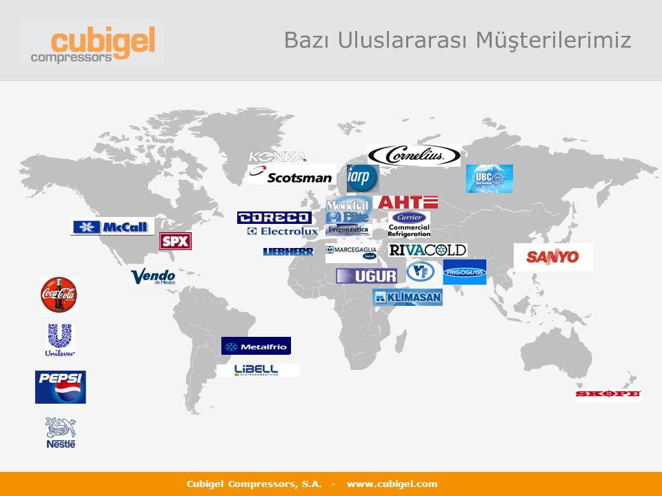 Cubigel Compressors, S.A. · www.cubigel.com Bazı Uluslararası Müşterilerimiz