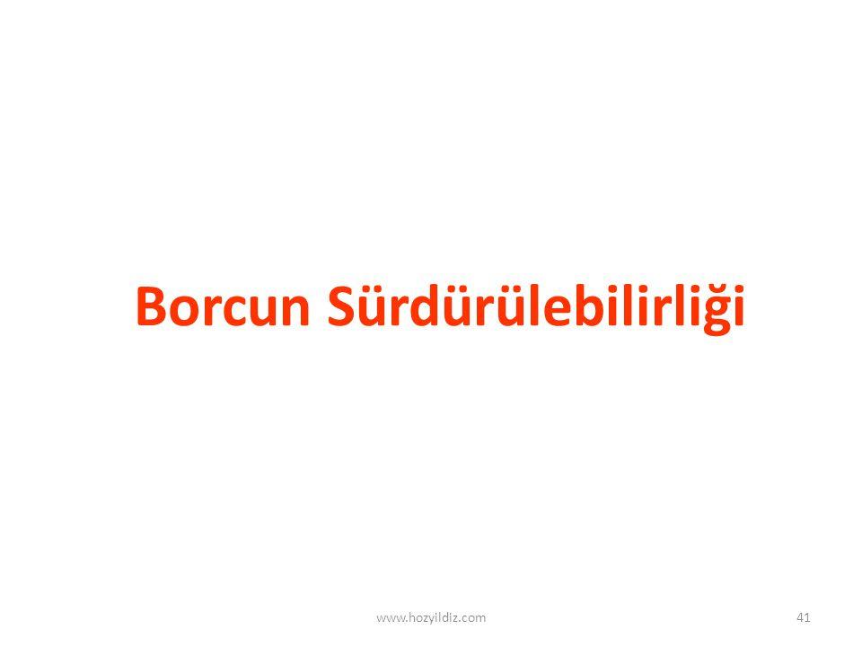 41 Borcun Sürdürülebilirliği www.hozyildiz.com