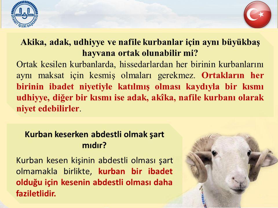 Akika, adak, udhiyye ve nafile kurbanlar için aynı büyükbaş hayvana ortak olunabilir mi? Ortak kesilen kurbanlarda, hissedarlardan her birinin kurbanl
