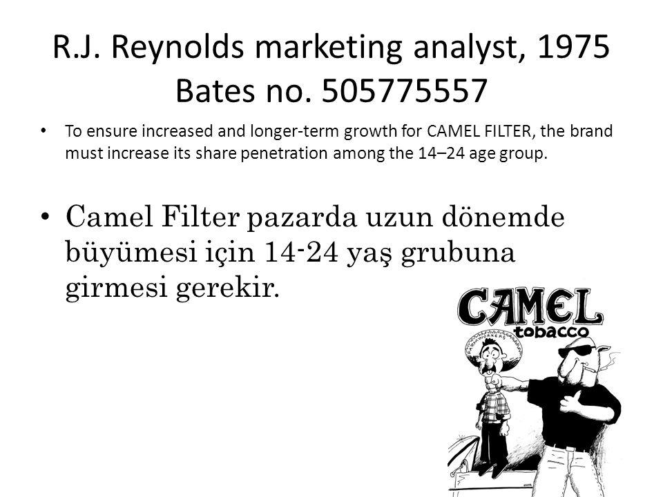 R.J.Reynolds marketing analyst, 1975 Bates no.