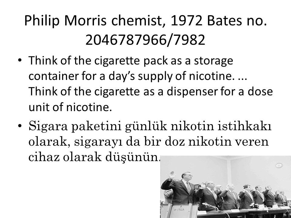 Philip Morris chemist, 1972 Bates no.