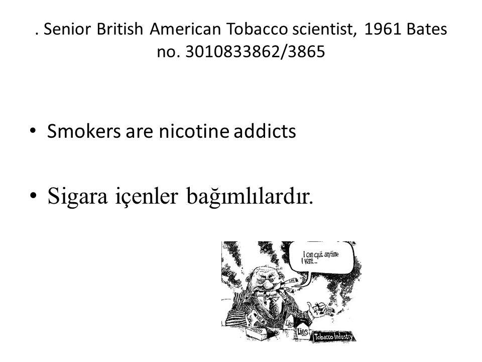 Senior British American Tobacco scientist, 1961 Bates no.