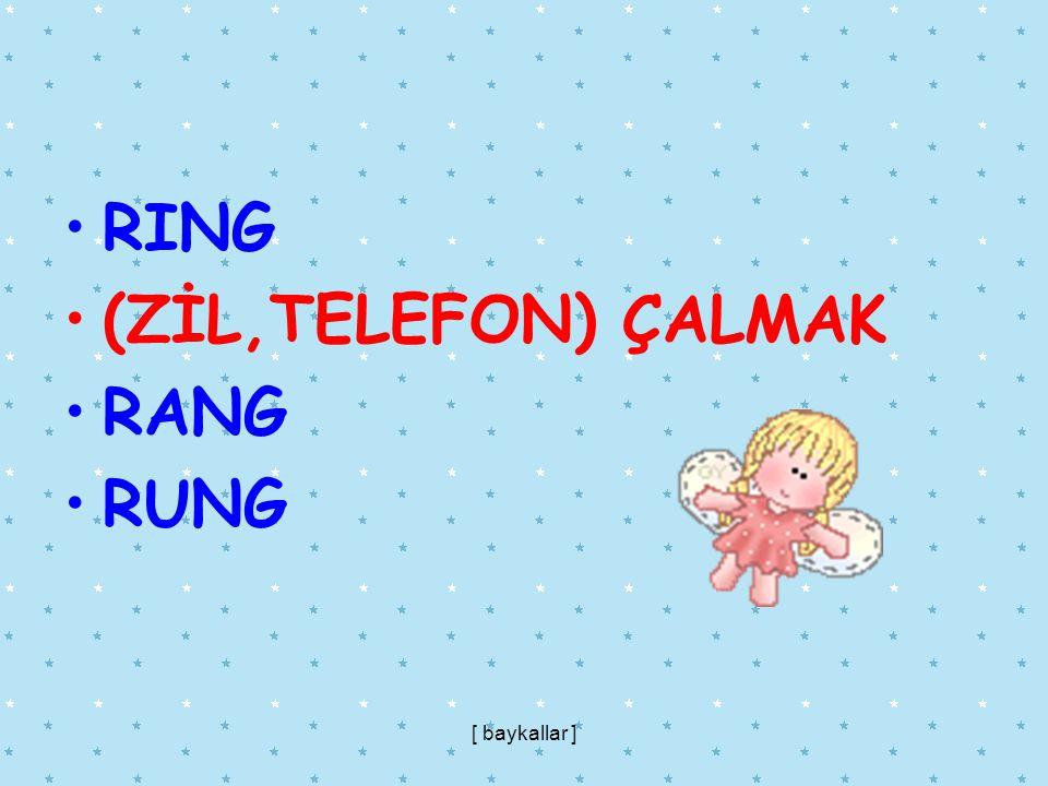 RING (ZİL,TELEFON) ÇALMAK RANG RUNG [ baykallar ]