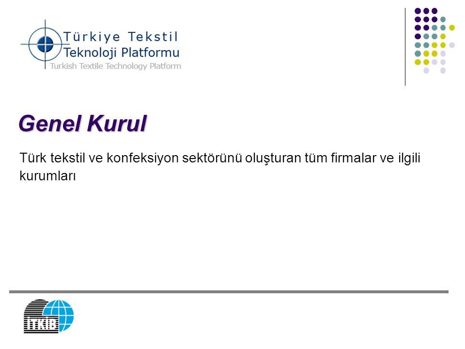 Genel Kurul Türk tekstil ve konfeksiyon sektörünü oluşturan tüm firmalar ve ilgili kurumları