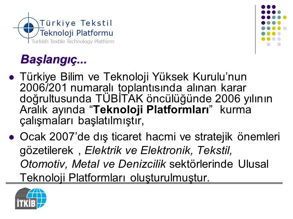 Başlangıç... Türkiye Bilim ve Teknoloji Yüksek Kurulu'nun 2006/201 numaralı toplantısında alınan karar doğrultusunda TÜBİTAK öncülüğünde 2006 yılının