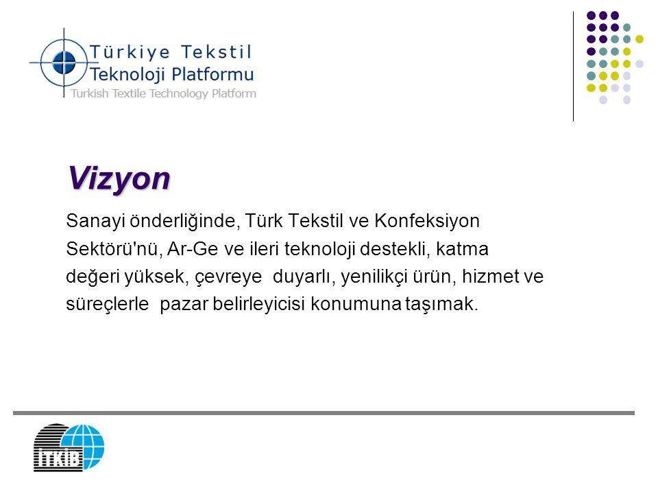 Vizyon Sanayi önderliğinde, Türk Tekstil ve Konfeksiyon Sektörü'nü, Ar-Ge ve ileri teknoloji destekli, katma değeri yüksek, çevreye duyarlı, yenilikçi