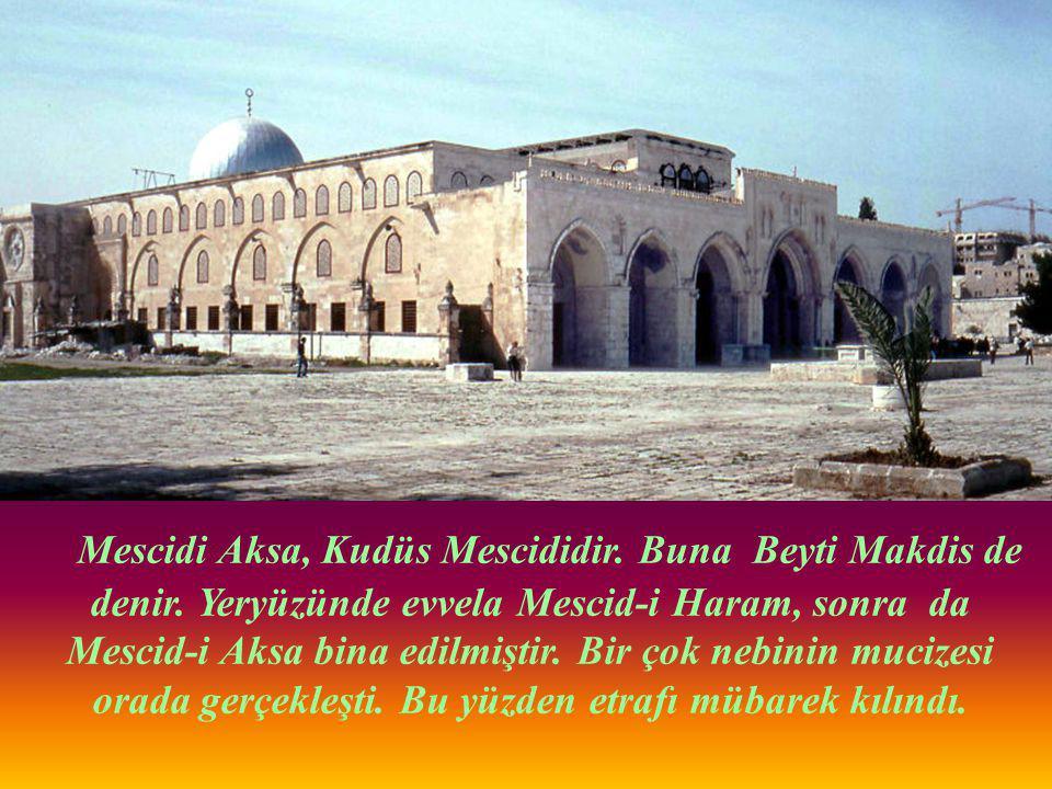 Resul-i Ekrem (s.a.v) burada diğer Peygamberlere imamlık yaptı, onlara namaz kıldırdı.