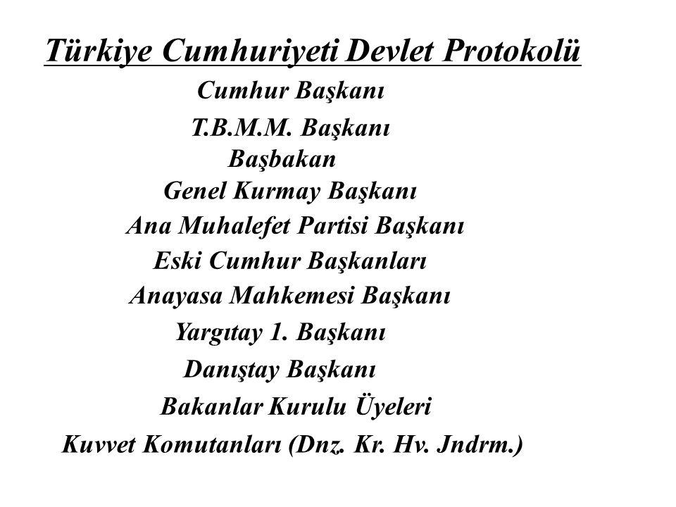 Türkiye Cumhuriyeti Devlet Protokolü Cumhur Başkanı T.B.M.M.