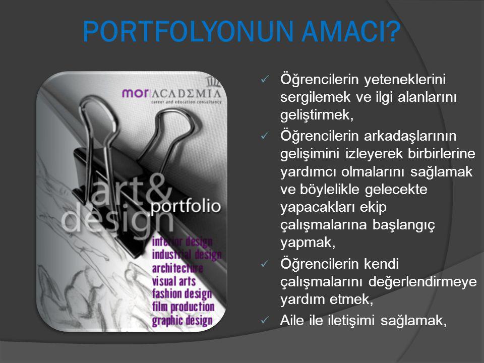 PORTFOLYONUN AMACI.