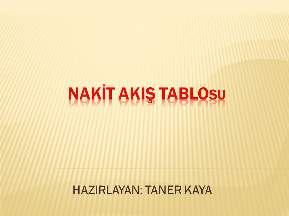 HAZIRLAYAN: TANER KAYA