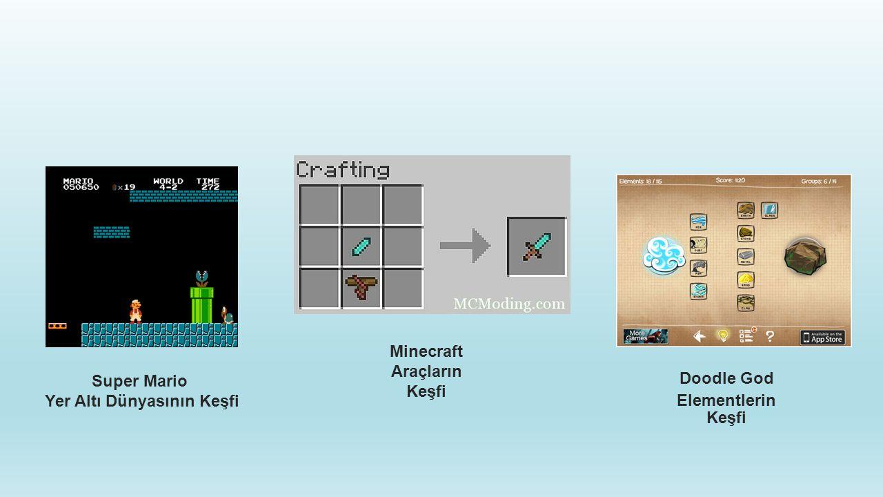 Super Mario Yer Altı Dünyasının Keşfi Doodle God Elementlerin Keşfi Minecraft Araçların Keşfi