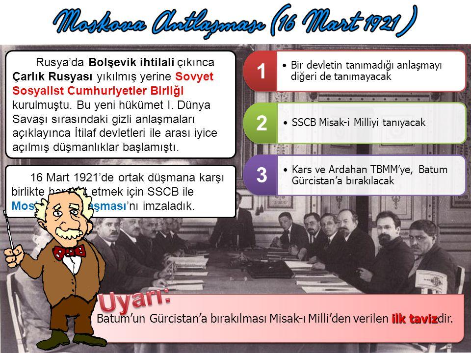 Afganistan Kralı Amanullah ile M. Kemal arasındaki mektuplaşmalardan sonra 1 Mart 1921 de dostluk anlaşması yapılmıştır. Buna göre taraflardan birisi