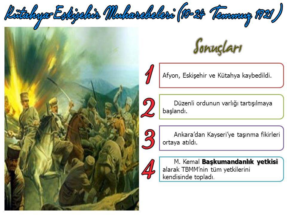 Yunanlılar İnönü Savaşları'nda kaybettikleri prestiji tekrar kazanmak için İngilizlerin de desteğini alarak Ankara'yı alabilmek amacı ile tekrar Kütah