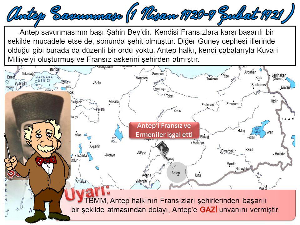 Urfa'yı Fransız ve Ermeniler işgal etti Urfa savunmasında başı Ali Saib Bey çekmiştir. Şehre Fransızlar girdiğinde düzenli bir ordu yoktu. Ali Saib ön