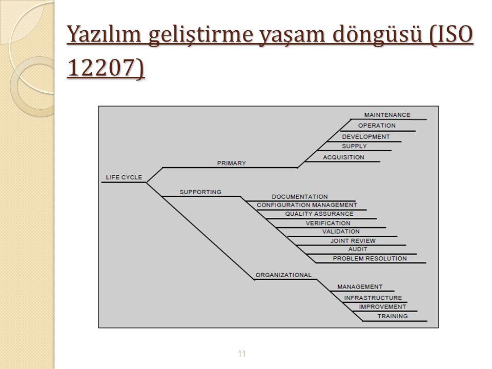 Yazılım geliştirme yaşam döngüsü (ISO 12207) 11