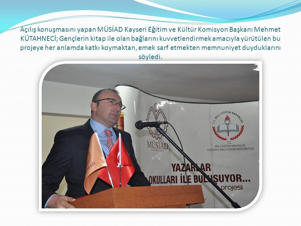 Proje kapsamında şair Haydar Ergülen genç okurlarla buluştu.