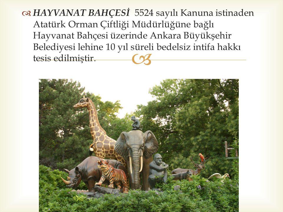   GAZİ ORMAN ÇİFTLİĞİ PARKI  Atatürk Orman Çiftliği Müdürlüğü özkaynakları ile yaptırılan Gazi Orman Çiftliği Parkı Ata nın vasiyeti doğrultusunda halkımızın hizmetine sunulmuştur.