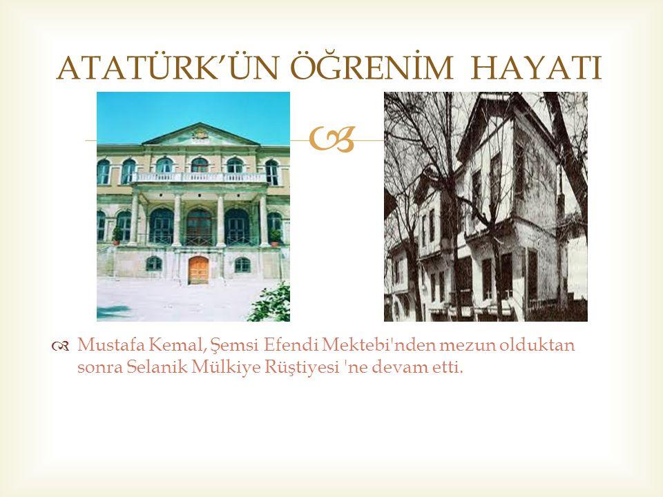   Atatürk; bilim ve fen hakkındaki görüş ve düşüncelerini şöyle ifade etmektedir: Dünyada her şey için, medeniyet için, hayat için, başarı için en gerçek yol göstericisi ilimdir, fendir.