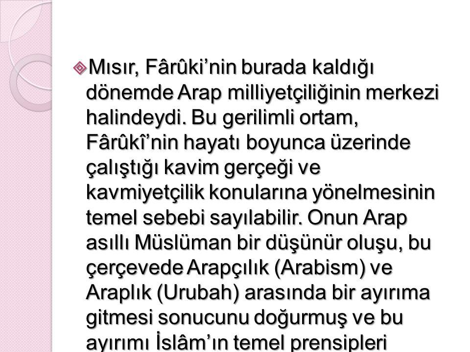 FARUKİ'DEN NASIL ÖRNEK ALABİLİRİZ.