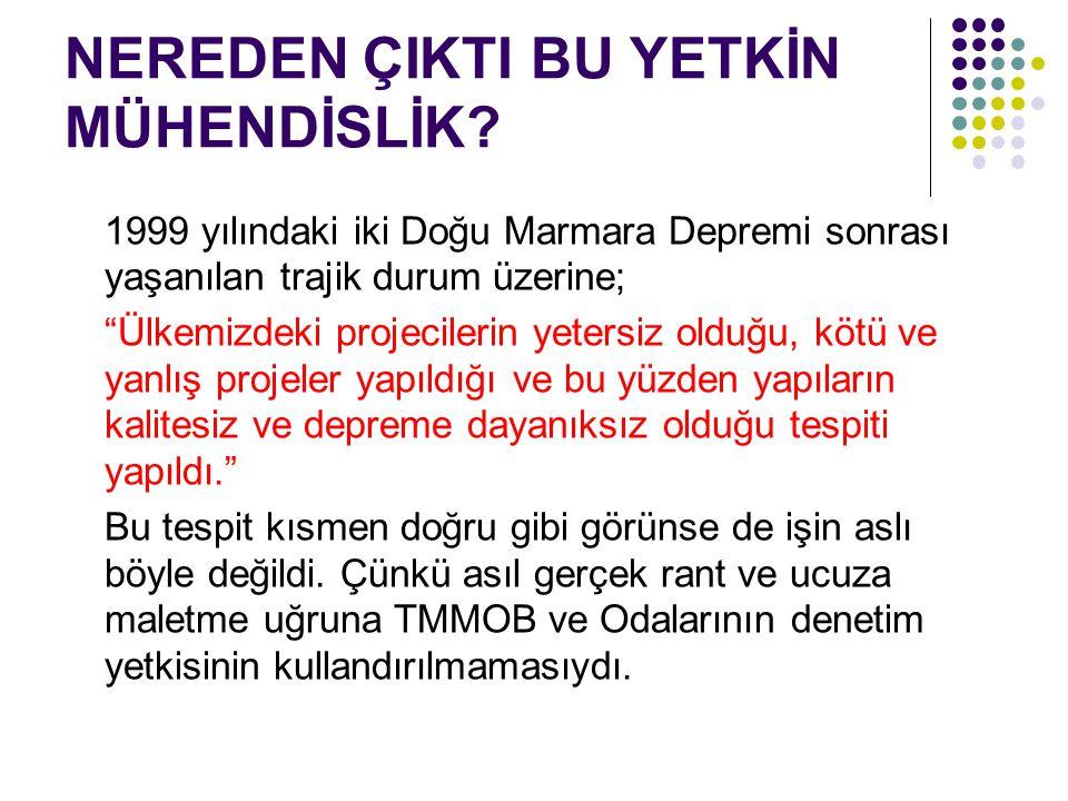 """NEREDEN ÇIKTI BU YETKİN MÜHENDİSLİK? 1999 yılındaki iki Doğu Marmara Depremi sonrası yaşanılan trajik durum üzerine; """"Ülkemizdeki projecilerin yetersi"""