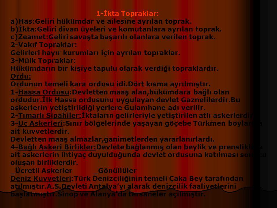 Kültür Ve Medeniyet Devlet Yönetimi: _Devleti yönetme hakkı Sekçuklu ailesine aittir.