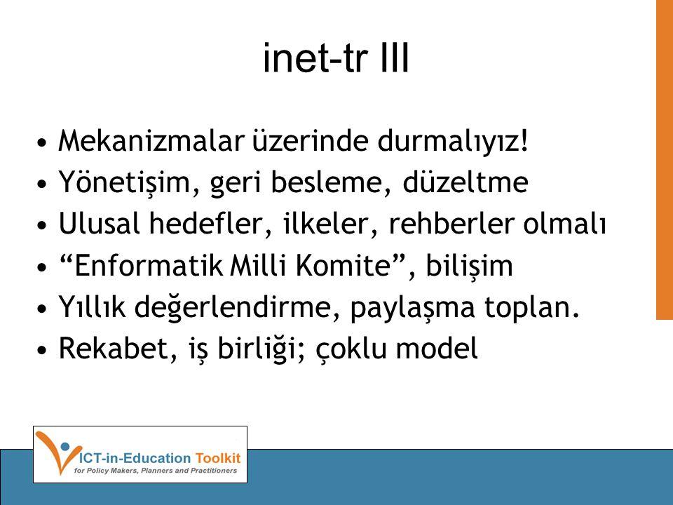 inet-tr III Mekanizmalar üzerinde durmalıyız.