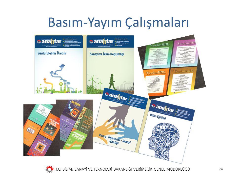 T.C. BİLİM, SANAYİ VE TEKNOLOJİ BAKANLIĞI VERİMLİLİK GENEL MÜDÜRLÜĞÜ Basım-Yayım Çalışmaları 24