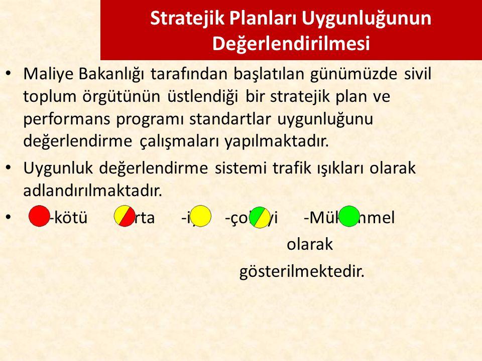 Stratejik Planları Uygunluğunun Değerlendirilmesi Maliye Bakanlığı tarafından başlatılan günümüzde sivil toplum örgütünün üstlendiği bir stratejik pla