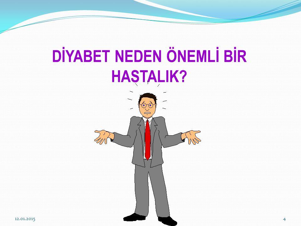 DİYABET NEDEN ÖNEMLİ BİR HASTALIK? 12.01.20154