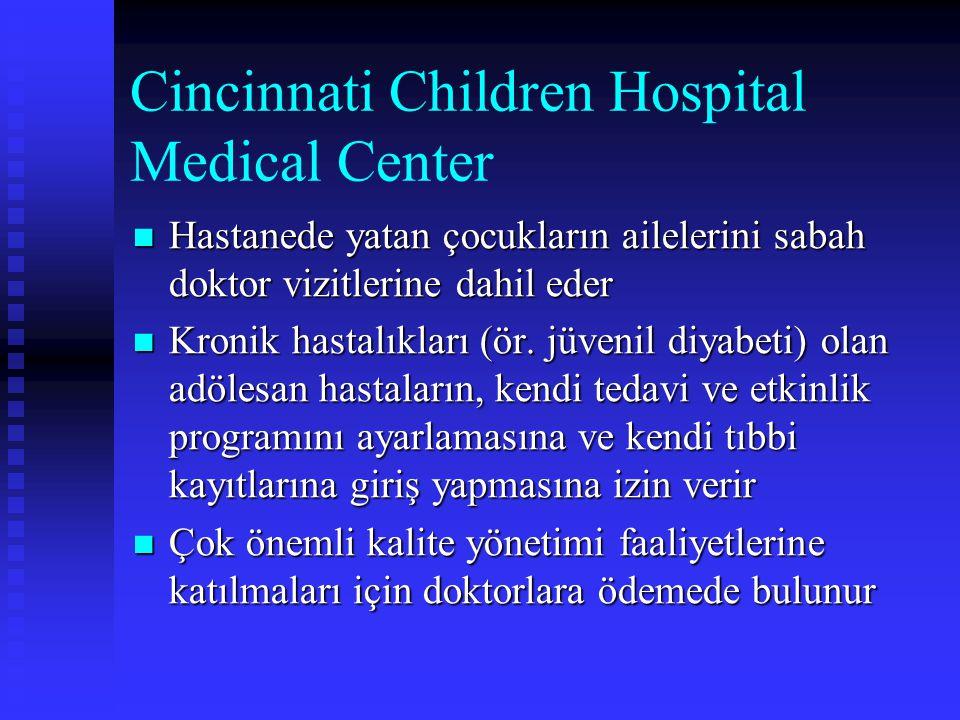Cincinnati Children Hospital Medical Center Hastanede yatan çocukların ailelerini sabah doktor vizitlerine dahil eder Hastanede yatan çocukların ailel