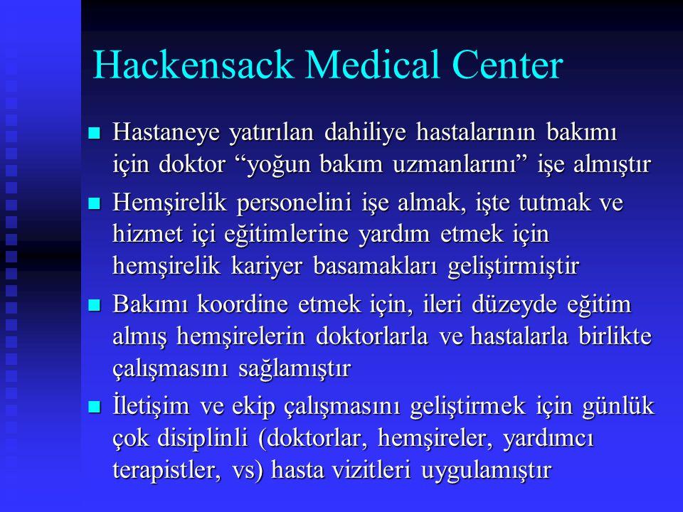 """Hackensack Medical Center Hastaneye yatırılan dahiliye hastalarının bakımı için doktor """"yoğun bakım uzmanlarını"""" işe almıştır Hastaneye yatırılan dahi"""