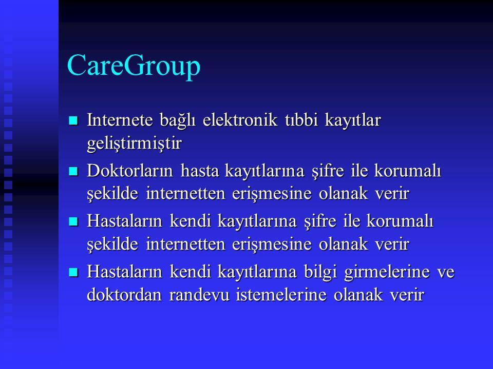 CareGroup Internete bağlı elektronik tıbbi kayıtlar geliştirmiştir Internete bağlı elektronik tıbbi kayıtlar geliştirmiştir Doktorların hasta kayıtlar