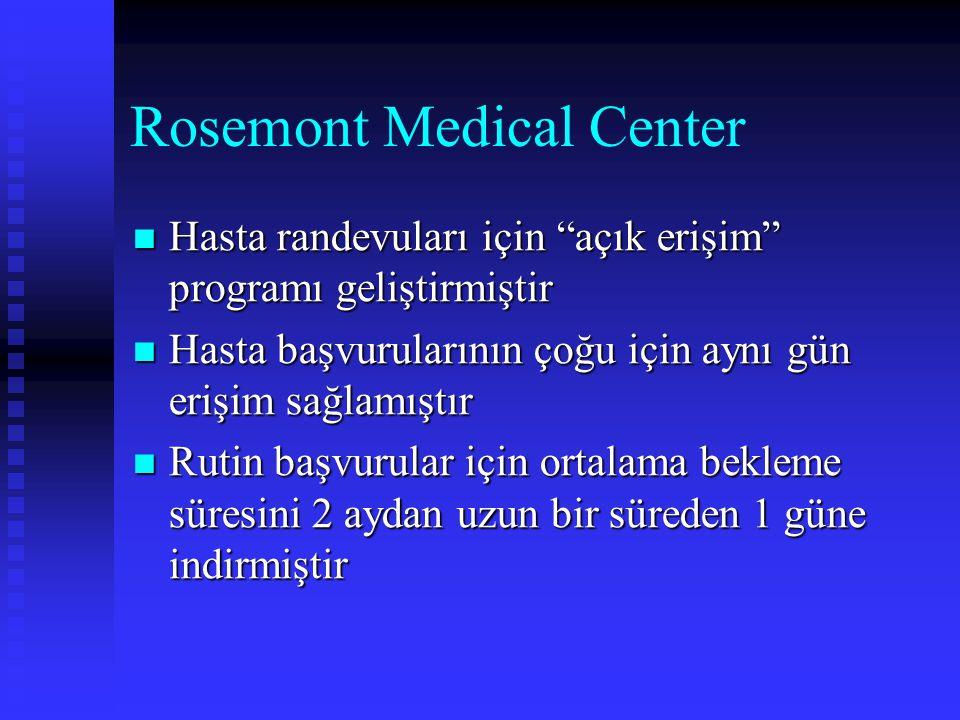 """Rosemont Medical Center Hasta randevuları için """"açık erişim"""" programı geliştirmiştir Hasta randevuları için """"açık erişim"""" programı geliştirmiştir Hast"""