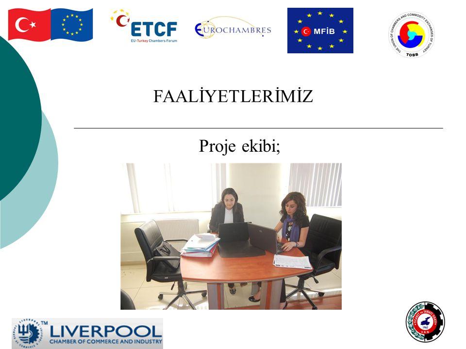 FAALİYETLERİMİZ Proje ekibi;