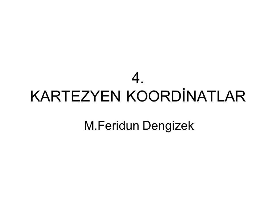 4. KARTEZYEN KOORDİNATLAR M.Feridun Dengizek