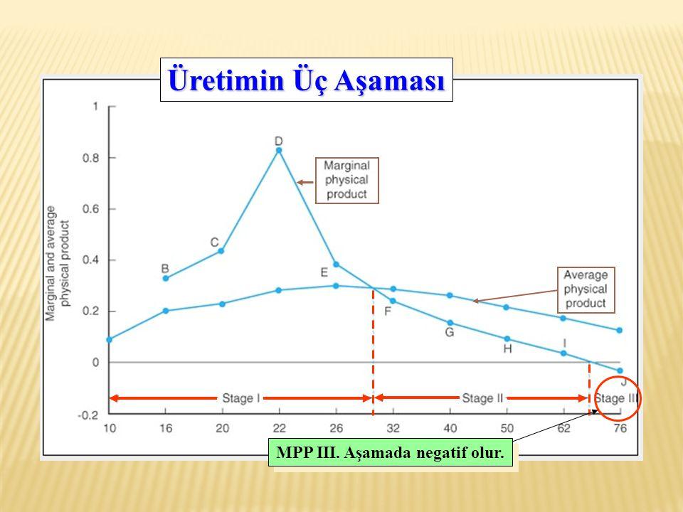 MPP III. Aşamada negatif olur. Üretimin Üç Aşaması