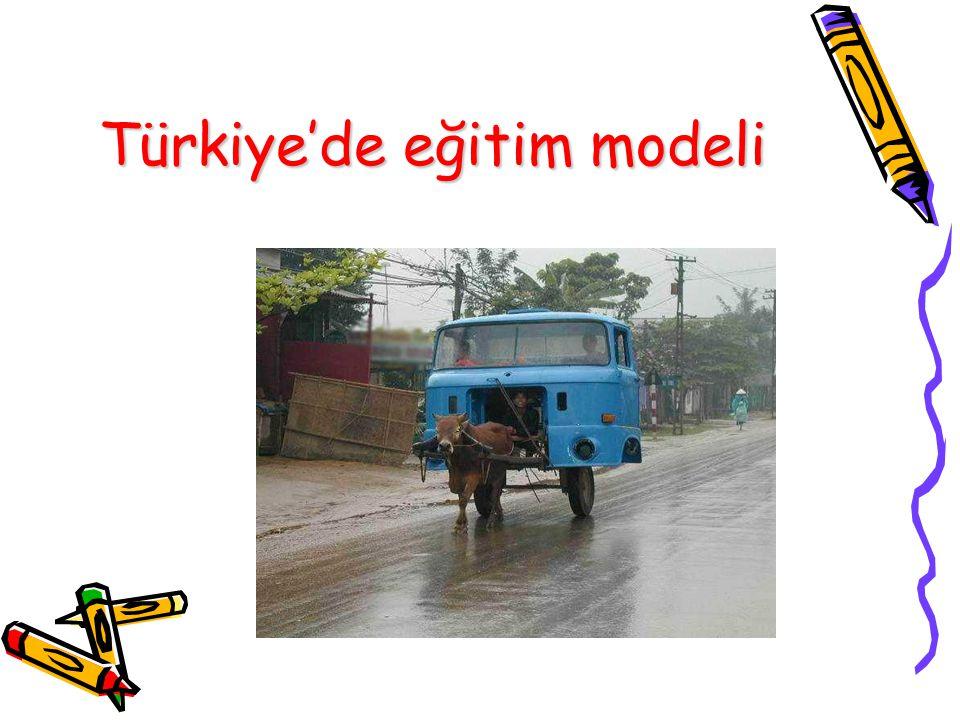 Türkiye'de eğitim modeli