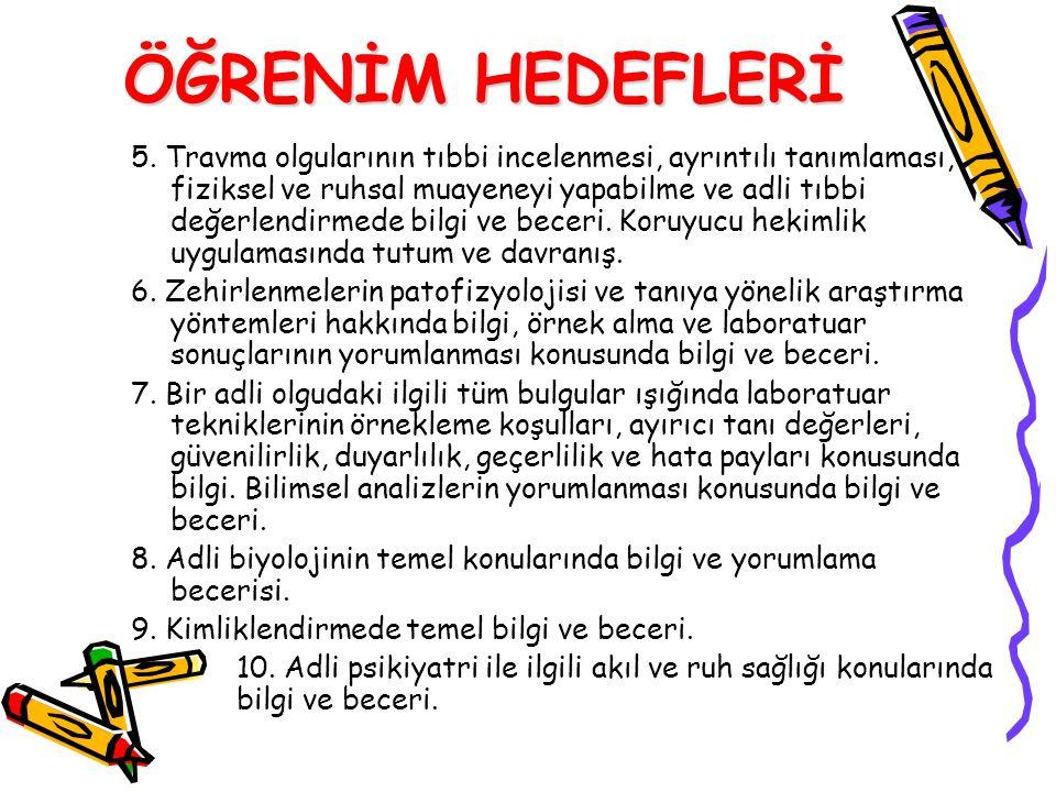 ÖĞRENİM HEDEFLERİ 5.
