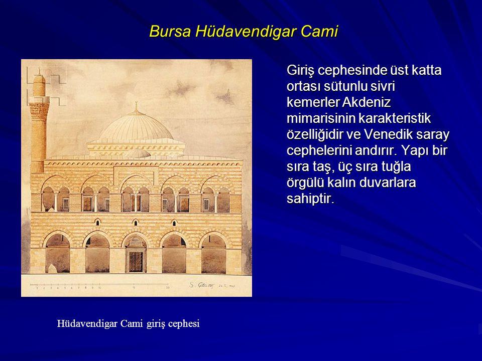 Bursa Yeşil Medrese Osmanlı mimarisinde medreseler genellikle tek katlıdır.