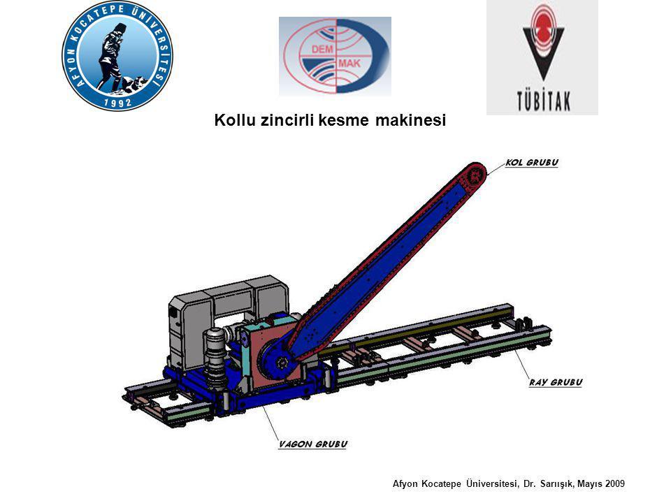 Kollu zincirli kesme makinesi mermer ve traverten ocaklarında; düzgün geometrik yapıya sahip bloklar elde etmek amacıyla imal edilmiş bir makinedir.