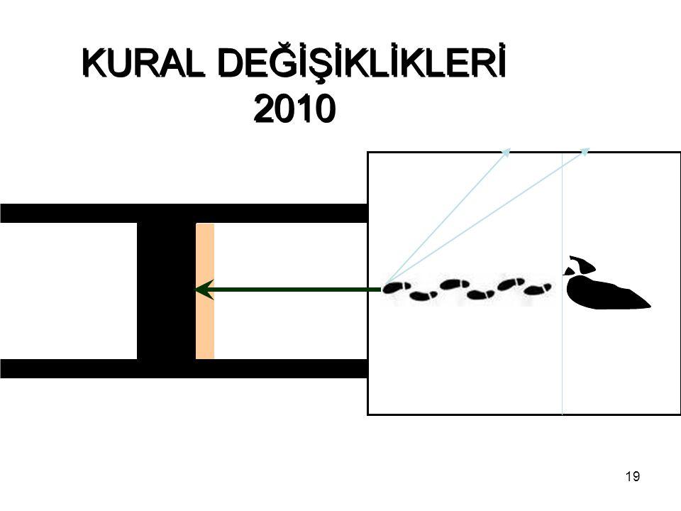 19 KURAL DEĞİŞİKLİKLERİ 2010