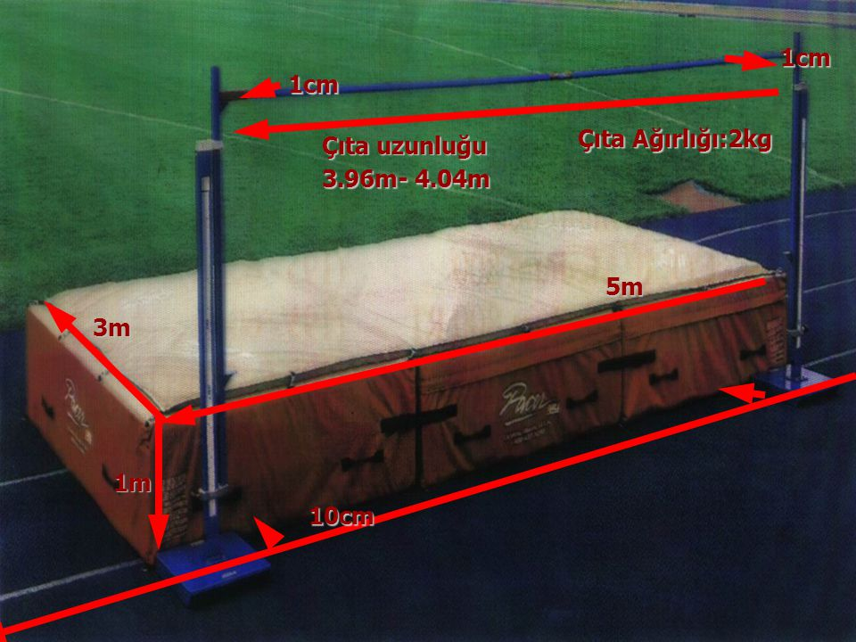 37 Çıta uzunluğu 5m 3m 10cm 3.96m- 4.04m 1cm 1m 1cm Çıta Ağırlığı:2kg